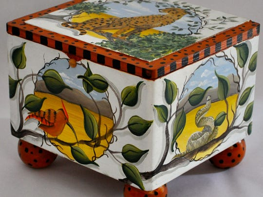 """A keepsSafe box by Barbara Bell, called """"All Creatures Great and Small."""""""