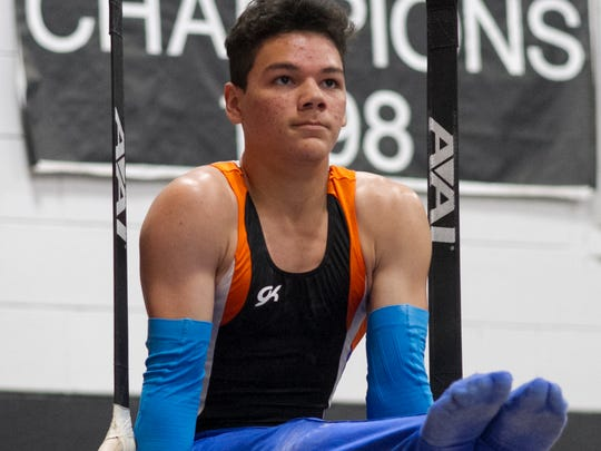 San Angelo Central's Christian Cannon is in 13th place in the all-around competition after Friday's compulsory round at the 2018 Texas High School State Gymnastics Championships.