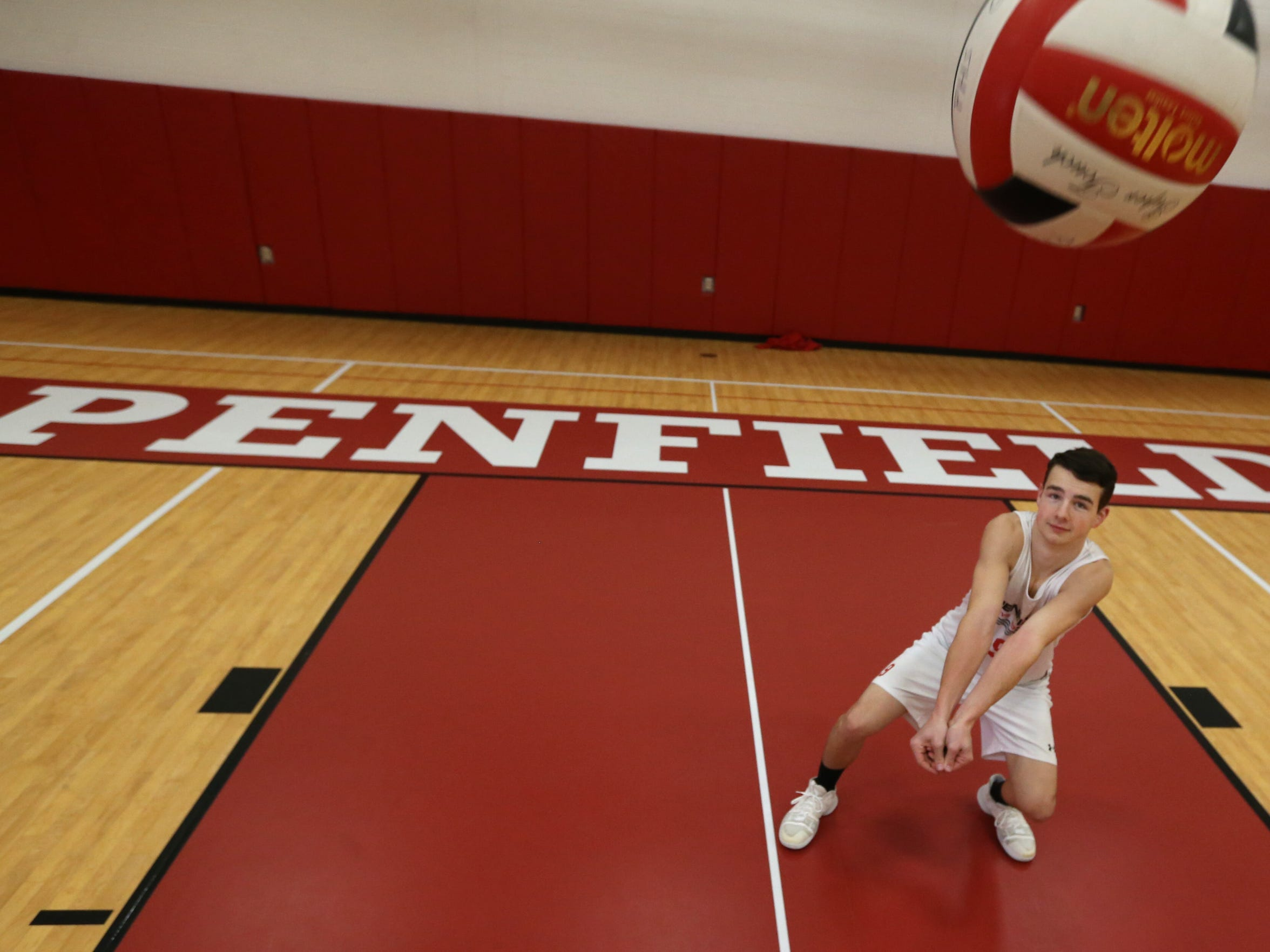 Jett Klintworth, senior at Penfield High School, is the All Greater Rochester boys volleyball player of the year for fall sports, Friday, Dec. 1, 2017.
