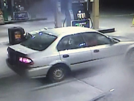 This vehicle is believed to have been used in a theft from a vehicle in the parking lot of the Newark Walmart.