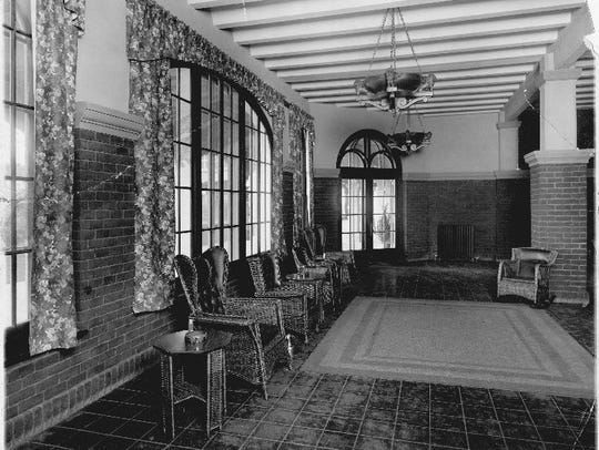 The lobby of the San Marcos Hotel in Chandler as it