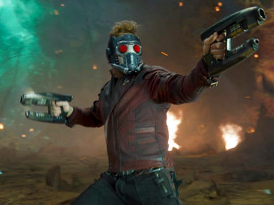 "This image released by Disney-Marvel shows Chris Pratt in a scene from, ""Guardians Of The Galaxy Vol. 2."""