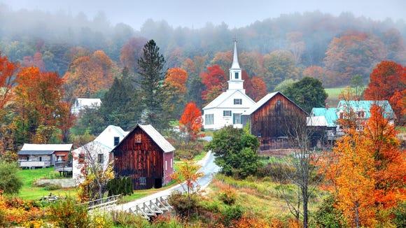 Rural Vermont in autumn