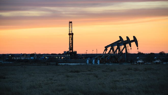Oil and gas drilling in Texas' Permian Basin.