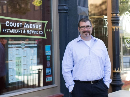 Scott Carlson is the owner of Court Avenue Restaurant and Brewing Co.