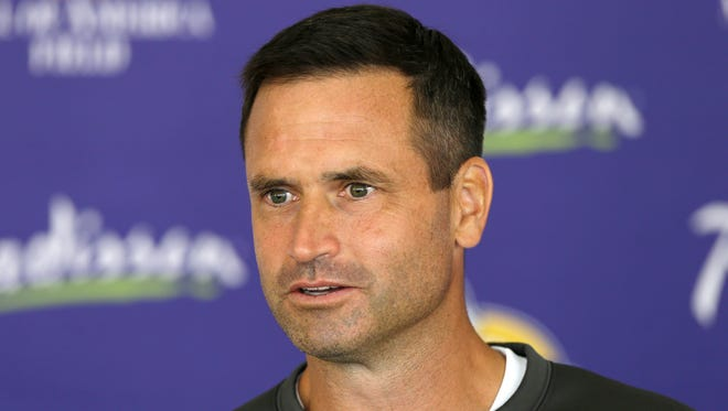 Minnesota Vikings special teams coordinator Mike Priefer denies allegations made by former punter Chris Kluwe