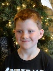 Loy Elementary second grader Braeden Wiener, age 7