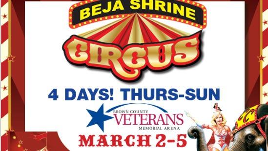 Beja Shrine Circus at the Veteran's Memorial Hall.