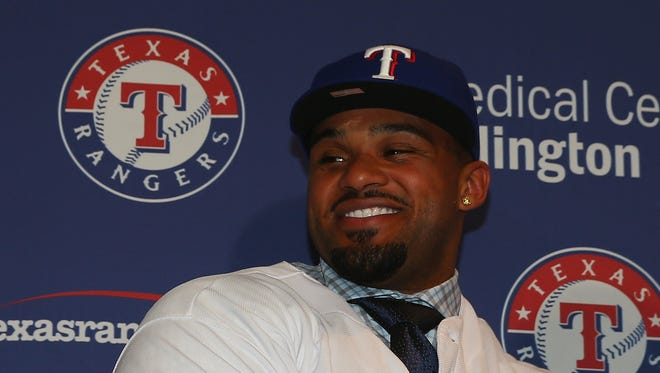 Rangers manager Ron Washington said Prince Fielder will bat third in the lineup.