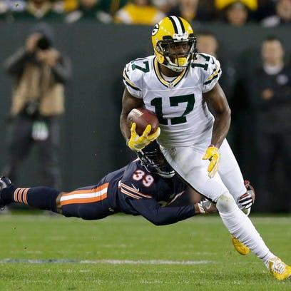 Packers wide receiver Davante Adams, who had 132 yards