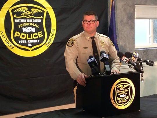 Northern York County Regional Police Chief Mark Bentzel. (Liz Evans Scolforo photo)