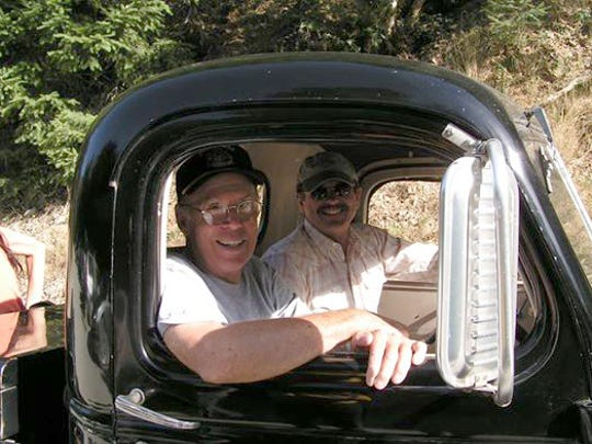 Tom Hirons, left, and George Atiyeh, right, were close friends who founded North Fork Logging together. Their friendship came apart, however, in the fight over whether to log or protect Opal Creek.