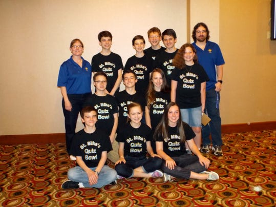 LIV St. Michael Quiz Bowl teams