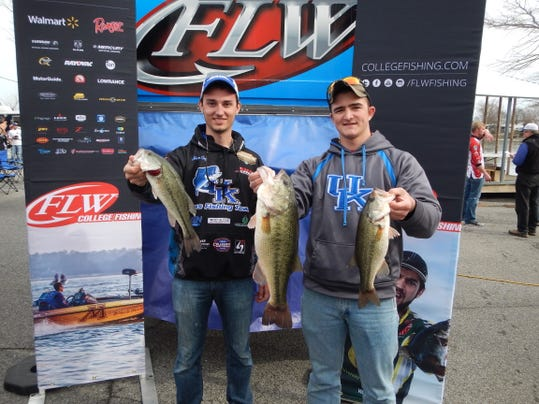 Flw college open bass tournament day 2 for Open bass fishing tournaments