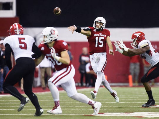 University of South Dakota quarterback Chris Streveler
