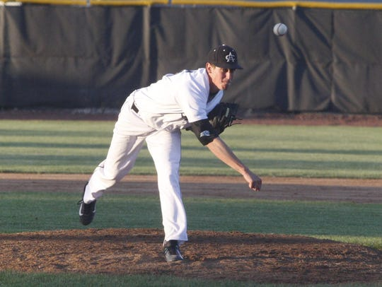 Ankeny Centennial's AJ Pierce pitches during the second