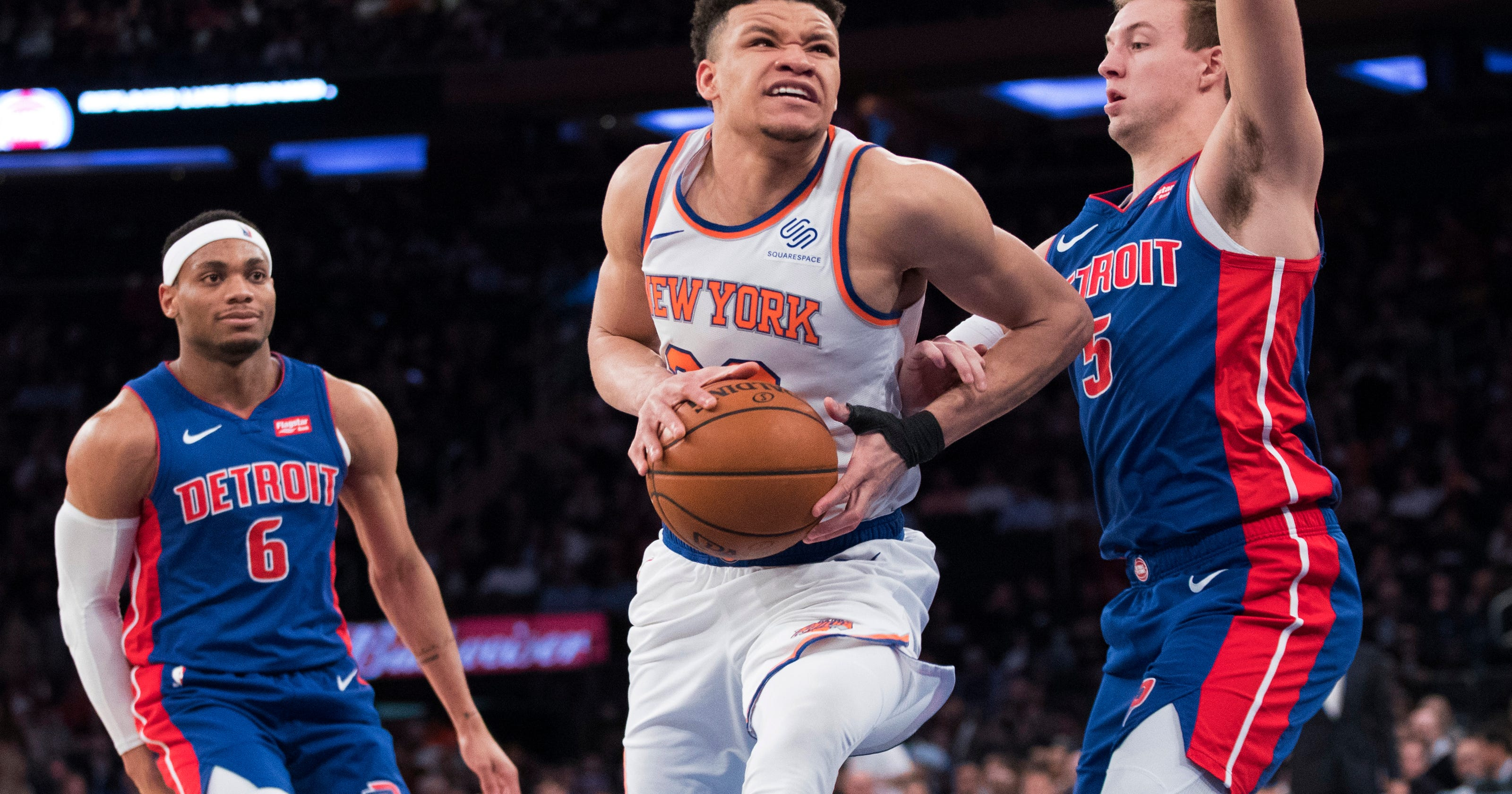 sneakers for cheap 45ab8 04332 New York Knicks: Kevin Knox working toward big sophomore season
