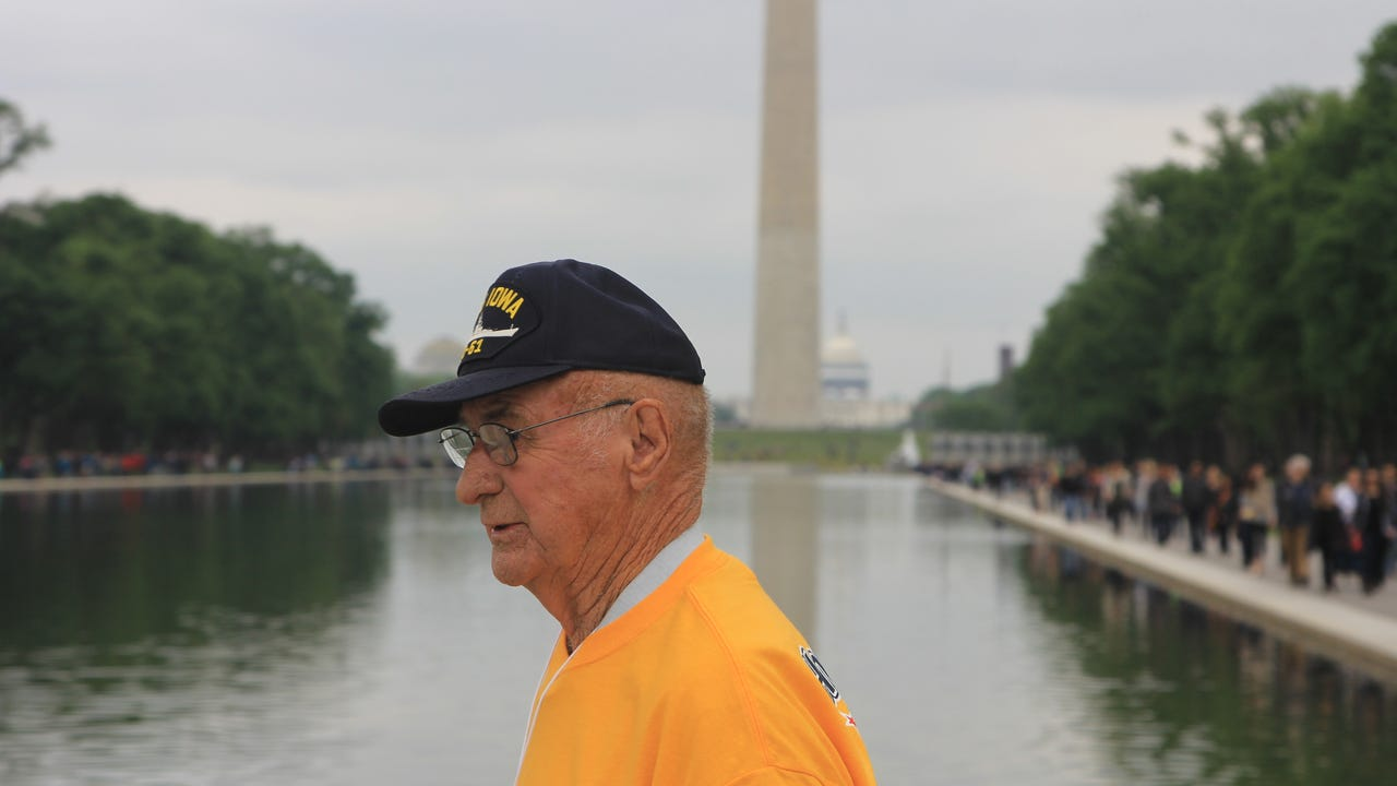 Veterans on the 2016 Tallahassee Honor Flight were flown to Washington, D.C. for the day to see its memorials together.