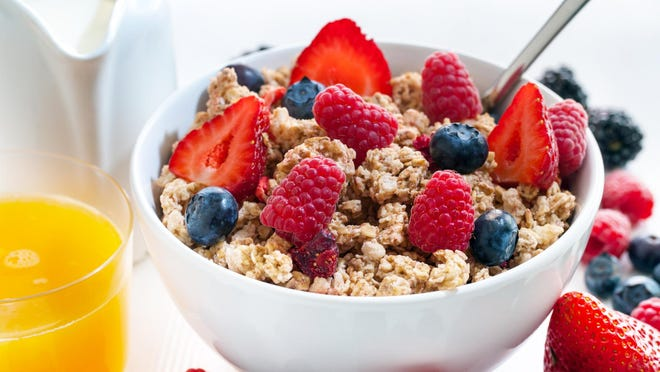 Breakfast gets your metabolism going. You keep it up by eating periodically throughout the day.