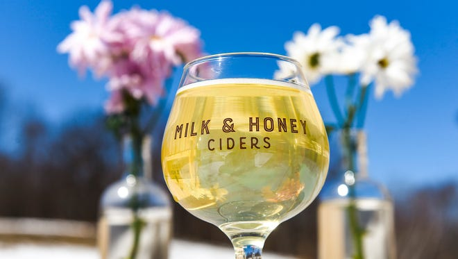Milk & Honey Ciders has just released their limited edition peach infusion cider shown Thursday, April 19, at their taproom in St. Joseph.