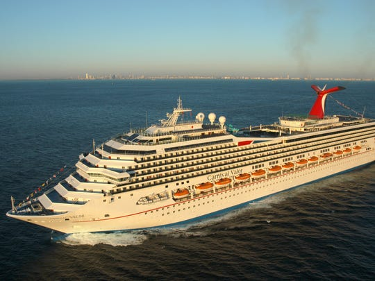 A 23-year-old man aboard the Carnival Valor cruise ship earlier this week fell off a railing, sustaining serious injuries.