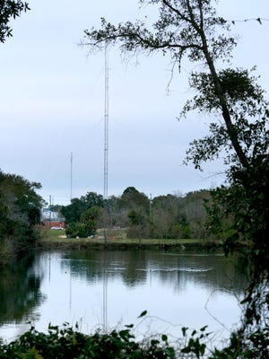 Divine Word Radio 1230 AM wanted to build the 350-foot tower on city-owned property at 2070 N. Palafox St., near Jordan Street. The city issued a cease and desist order Tuesday to stop Divine Word Radio from building the tower next to the Long Hollow storm drainage basin, even though the permit to build the tower was issued last Thursday.
