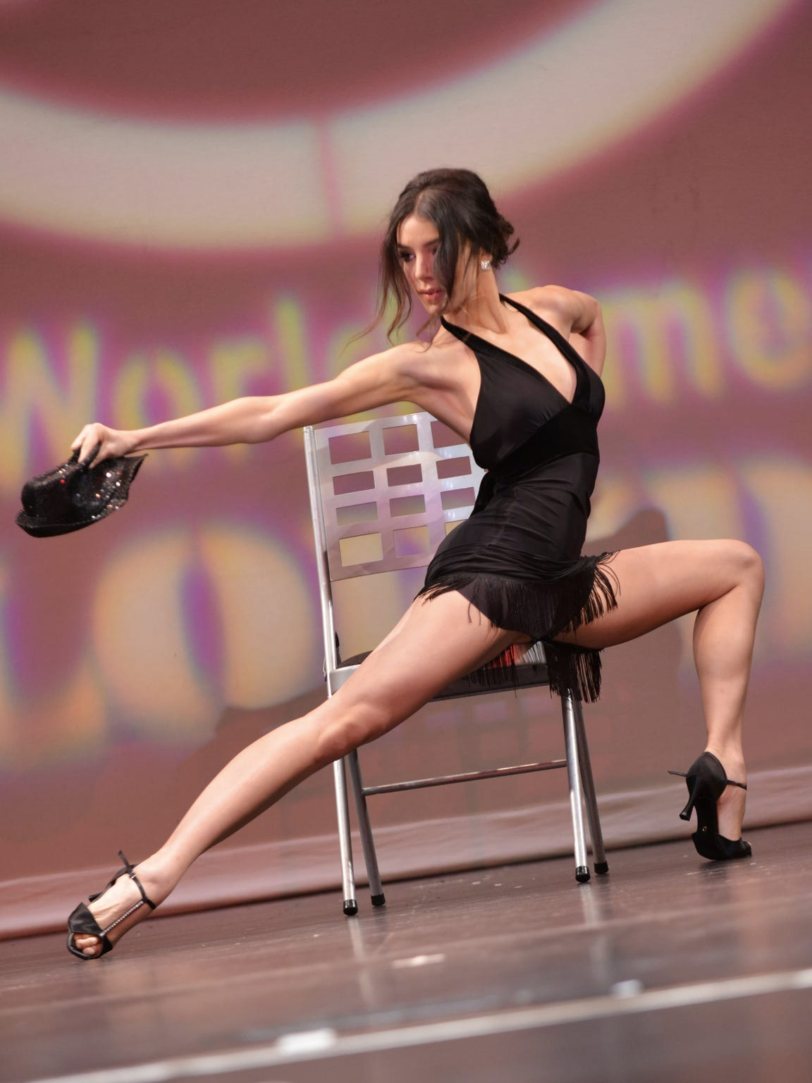 Kailyn Perez dancing during the talent portion of a