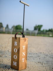 A vintage-style ignition box sits nearby during 4G's 2015 July Fourth show in Belmond.