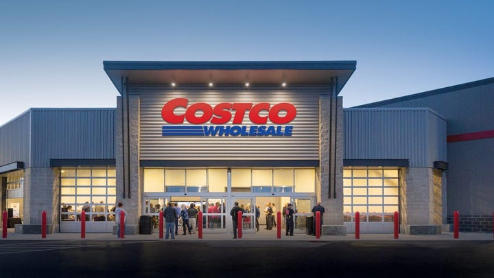 The front of a Costco store