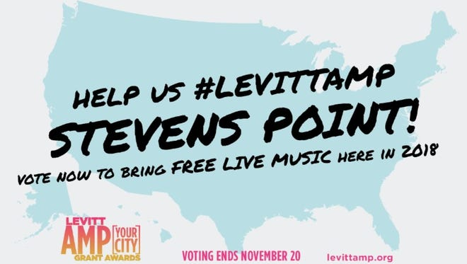 Voting has kicked off  for the Levitt AMP [Your City] grant program, which runs through Nov. 20, 2017. CREATE Portage County is hoping to get enough community support to bring back the series to Stevens Point in 2018.