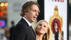 Dax Shepard (left) with his wife, Kristen Bell.