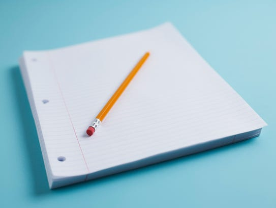 A pencil and paper.