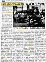 Oct. 29, 1955, story on Aeolian American plant, now known as Piano Works Mall.