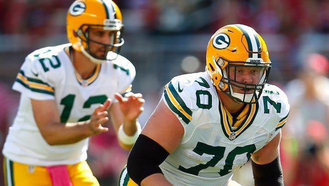 Green Bay Packers guard T.J. Lang. Age: 29. 2016 stats: 13 starts.