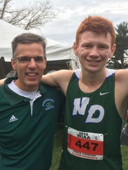 Green Bay Notre Dame senior Jack Colleran (right) with