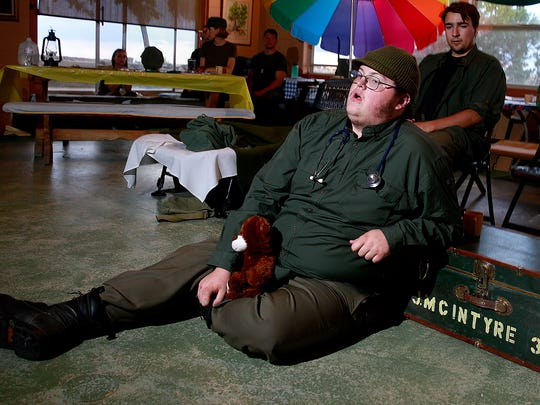 """Jonathan Alexander is featured as Radar O'Reilly in the Theater Ensemble Arts production of """"M*A*S*H"""" opening this weekend in Farmington."""