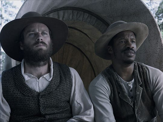 "Armie Hammer, left, and Nate Parker in ""The Birth of a Nation."""