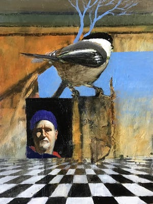 """""""Me and Chickadee,"""" a painting by Tom Glover, will be displayed in the opening exhibition at the George Marshall Store Gallery beginning June 20."""
