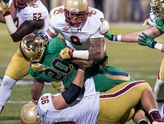 NCAA Football: Notre Dame vs Boston College