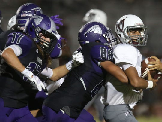 Shadow Hills and Rancho Mirage football action on Friday,