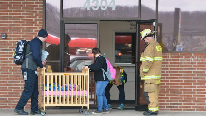 All Aboard Child Care Center at 4304 N. George St. Ext. in East Manchester Twp. was briefly evacuated on Friday, Jan. 6, 2017, for a carbon-monoxide scare. Officials said there were no elevated levels of the deadly gas. (John A. Pavoncello photo)