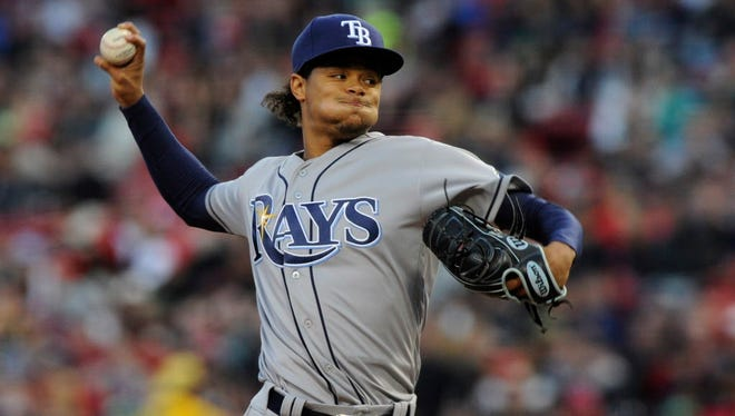 Tampa Bay Rays starting pitcher Chris Archer (22) is set to throw the first official pitch of the 2017 MLB season.
