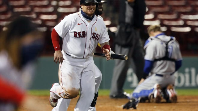 Christian Vazquez was at the center of a ninth-inning rally by the Red Sox on Saturday.