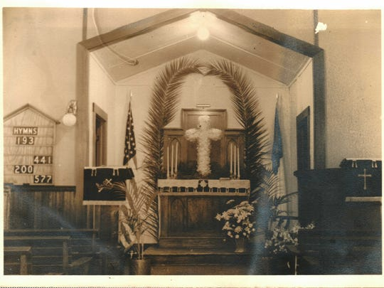 Photo of Grace Lutheran Church's sanctuary in 1919.