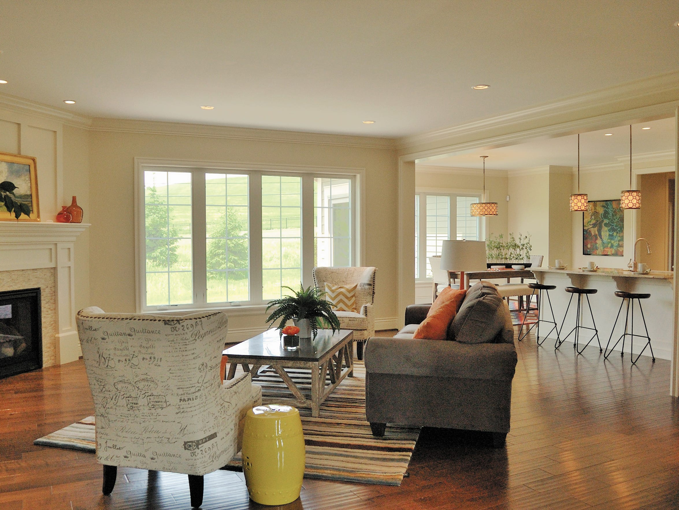 This Pittsford home, built by Ketmar and designed by
