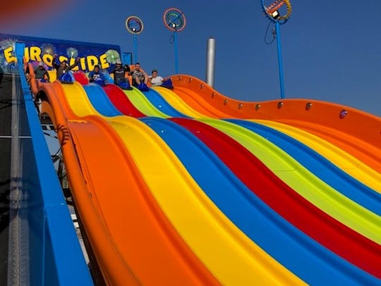 A 65-foot Euro Slide that will make its first of four