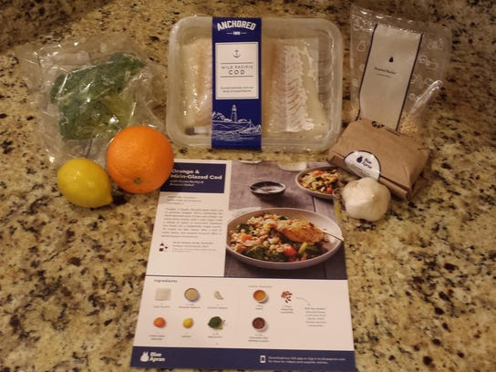 Blue Apron's ingredients and recipe for Orange Glazed