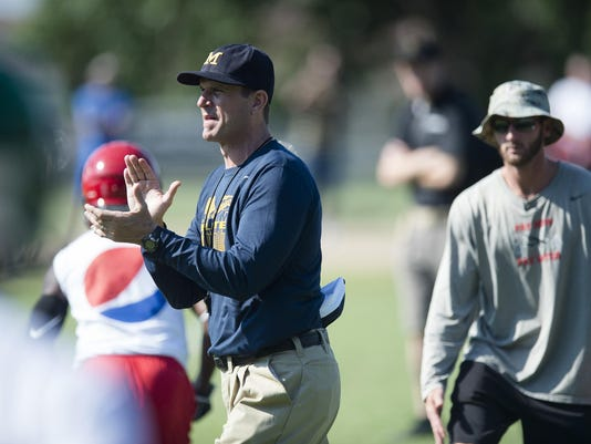 Coach Jim Harbaugh Camp Alabama 104