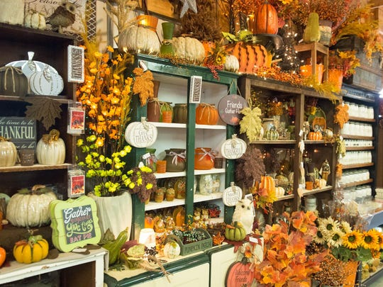 Fall merchandise on sale at Gull Meadow Farms.