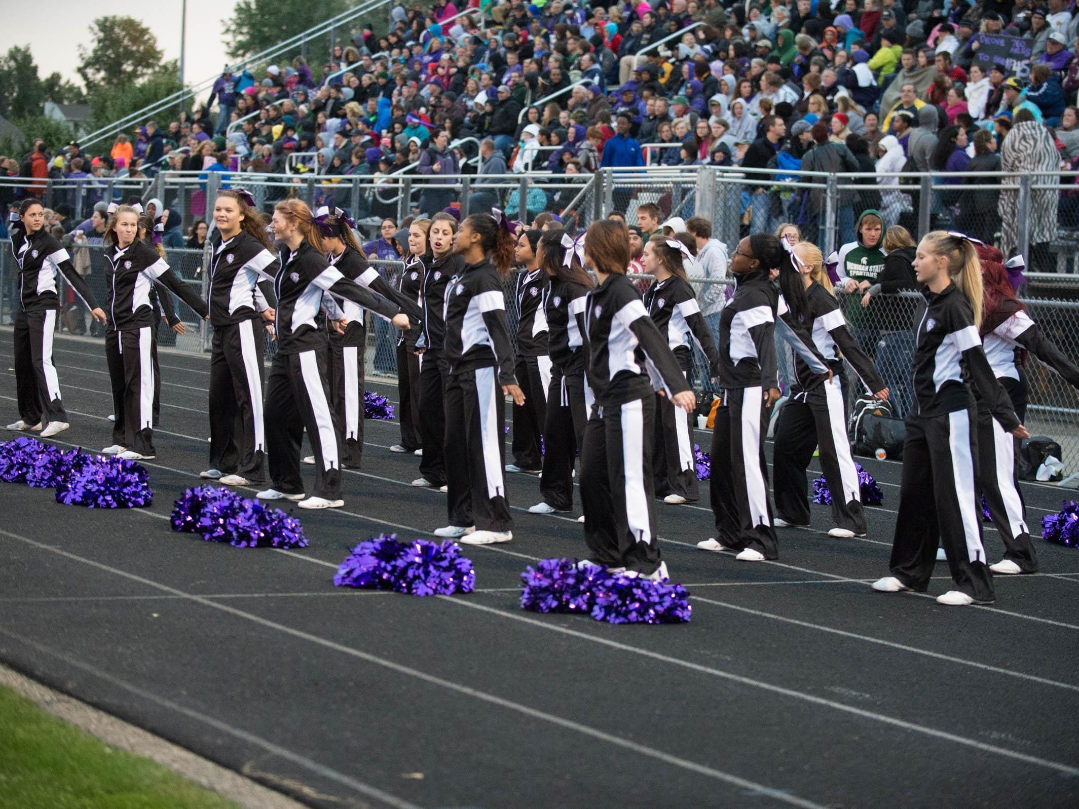 Lakeview's cheerleaders at home comming game Friday evening.